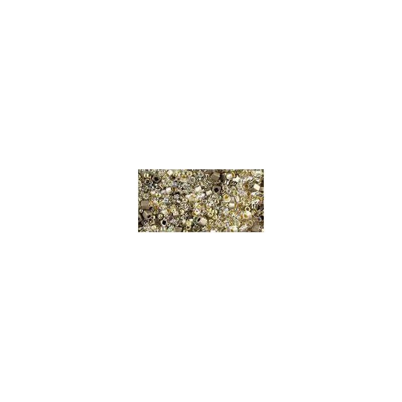 TX-01-3201 Junpaku- Crystal/Silver Mix TOHO Perles de Rocailles