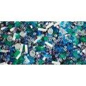 TX-01-3229 Fuji- White/Green/Blue/Purple Mix TOHO Seed Beads
