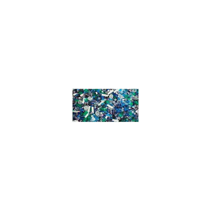 TX-01-3229 Fuji- White/Green/Blue/Purple Mix TOHO Perles de Rocailles