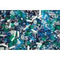 TX-01-3229 Fuji- White/Green/Blue/Purple Mix TOHO Perles de Rocailles