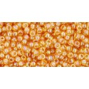 TR-11-162B TRANSPARENT-RAINBOW MED TOPAZ SEED BEADS