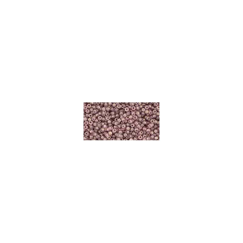 TR-11-Y628 HYBRID Sueded Gold Transparent Amethyst TOHO Seemnehelmed
