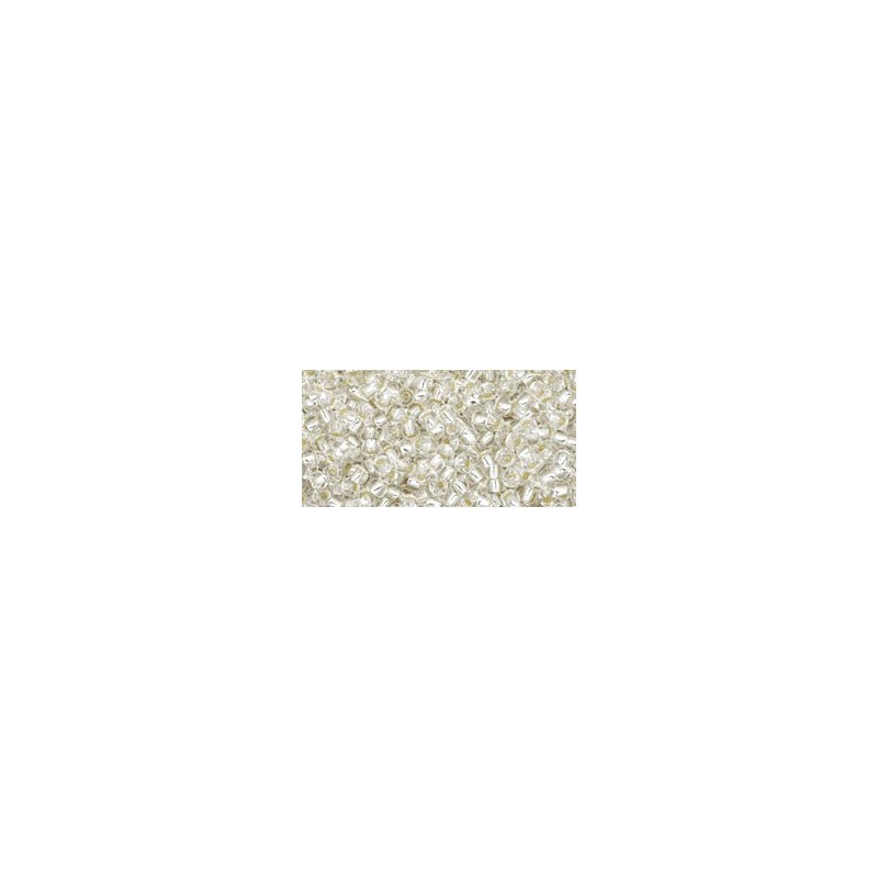 TR-11-21 SILVER-LINED CRYSTAL SEED BEADS