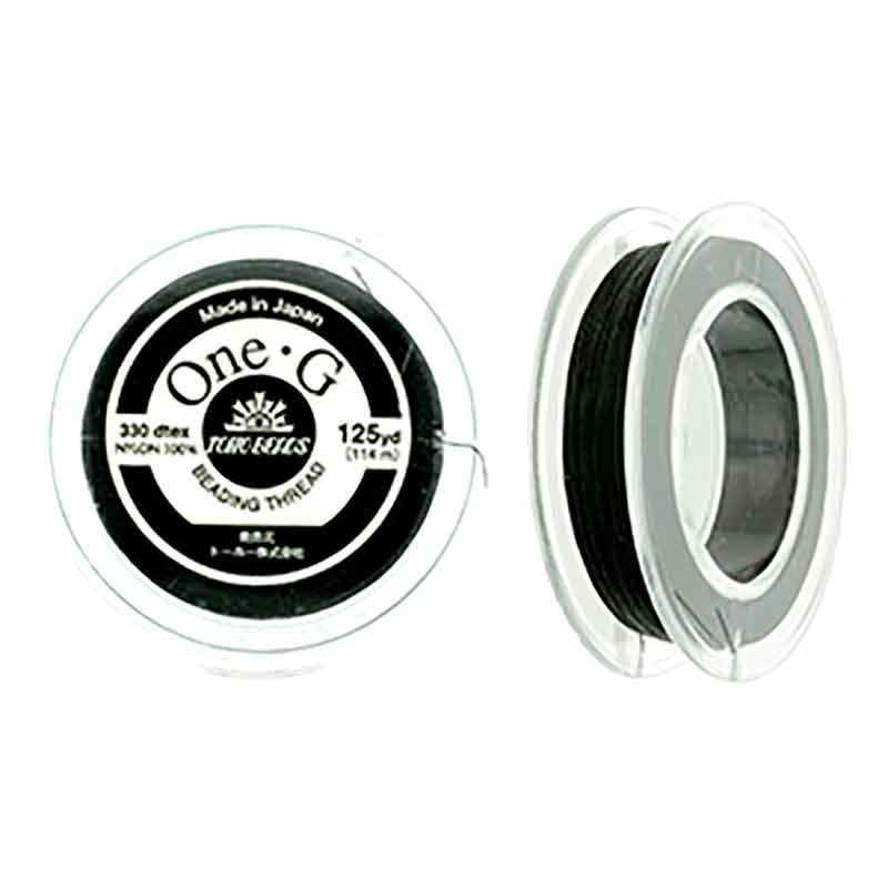 Black TOHO One-G Beading Thread Bobbin 114.3m (125yd) long