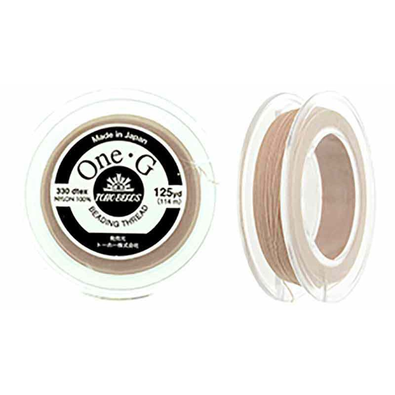 Beige TOHO One-G Beading Thread Bobbin 114.3m (125yd) long