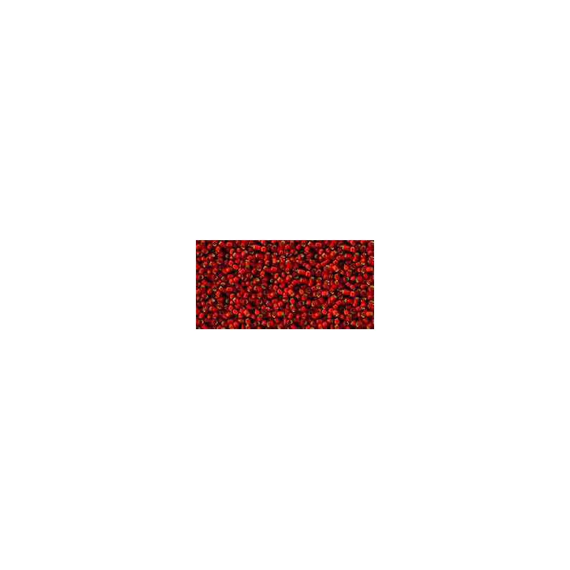 TR-15-25CF Silver-Lined Frosted Ruby TOHO Seed Beads