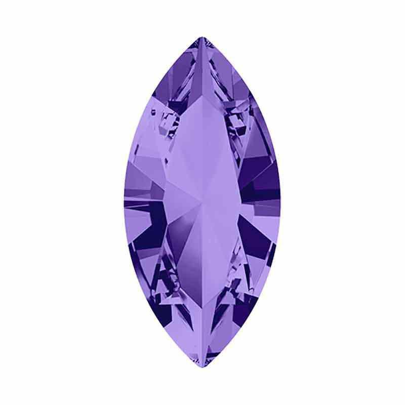 10x5mm Tanzanite F XILION Navette Ehete Kristall 4228 Swarovski Crystal