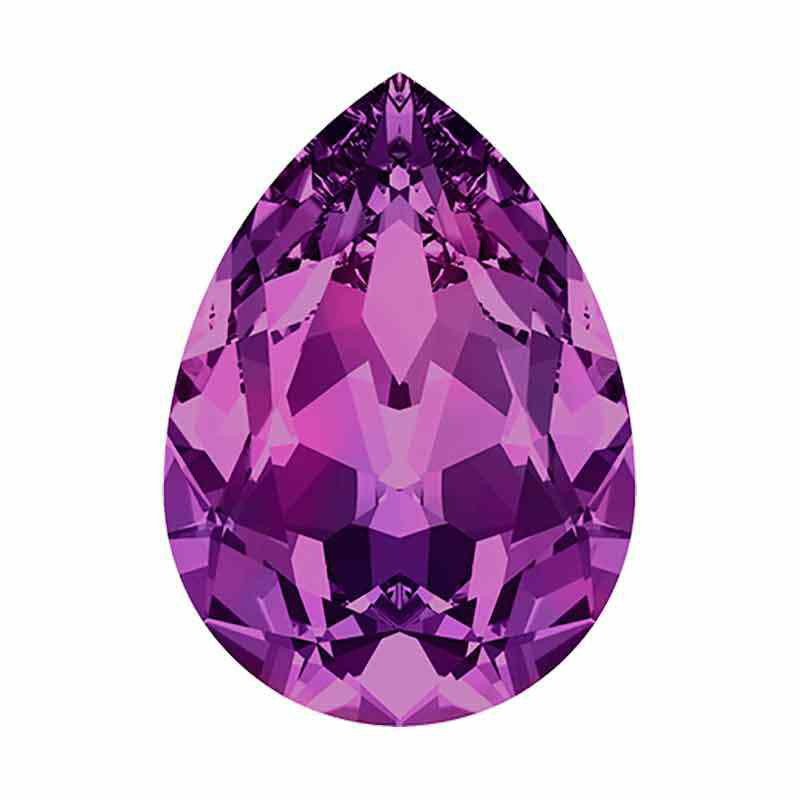 14x10mm Amethyst F Pear-Shaped Fancy Stone 4320 Swarovski Crystal