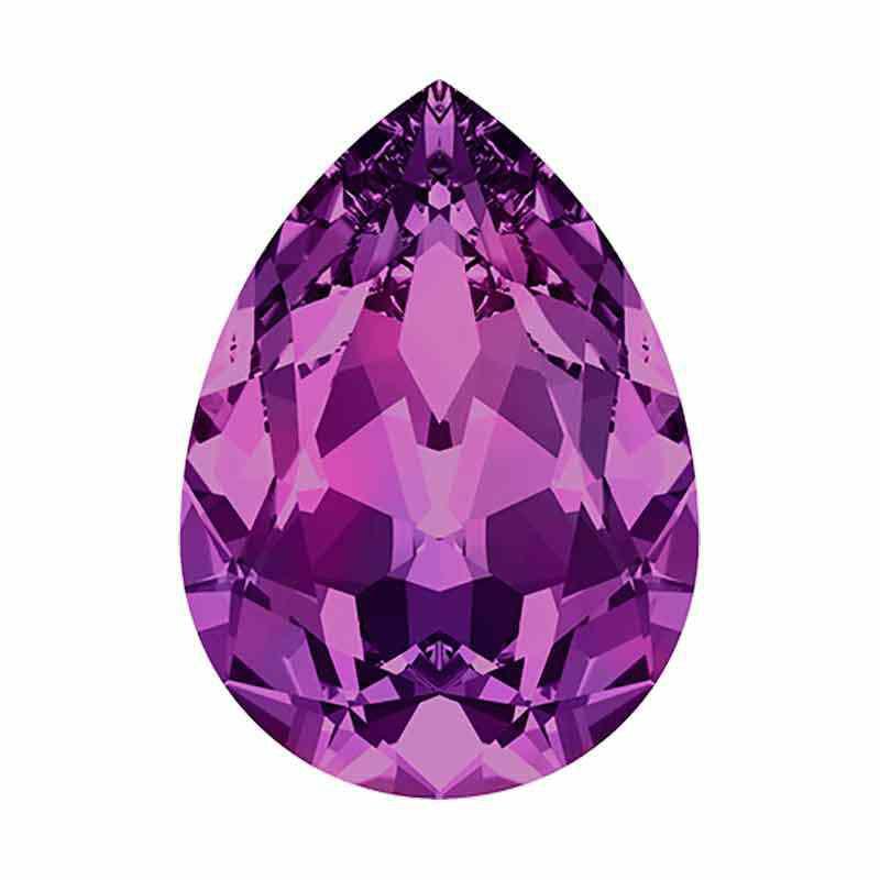 14x10mm Amethyst F Poire Fancy Cristal 4320 de Swarovski Cristal