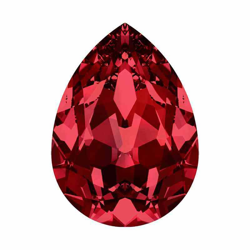 8x6mm Siam F Pear-Shaped Fancy Stone 4320 Swarovski Crystal