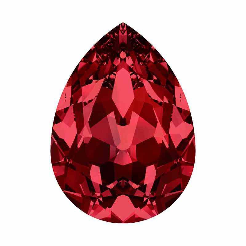 8x6mm Siam F Poire Fancy Cristal 4320 de Swarovski Cristal