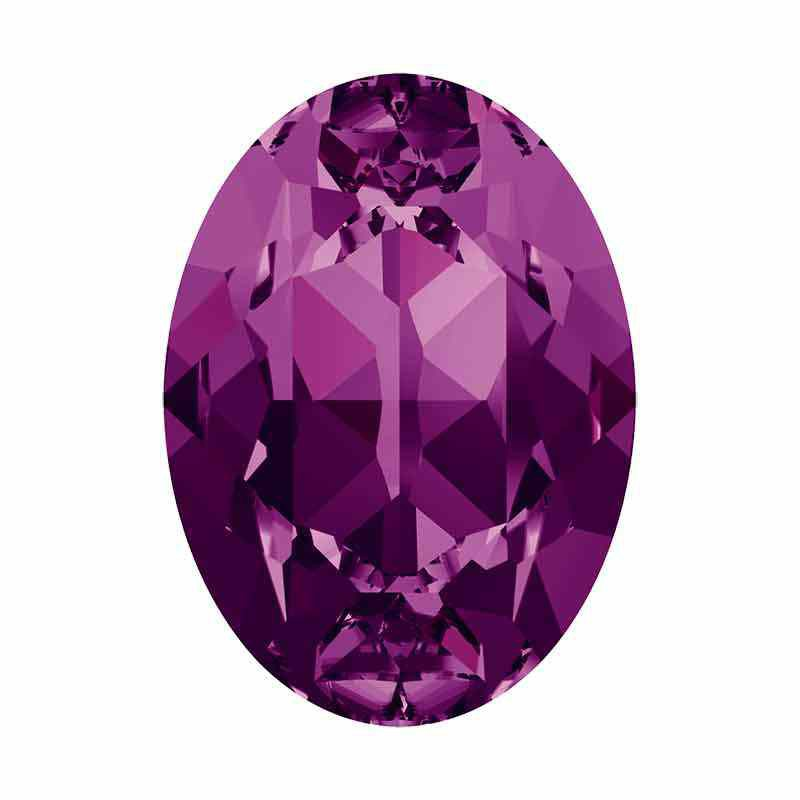 18x13mm Amethyst F Oval Fancy Stone 4120 Swarovski