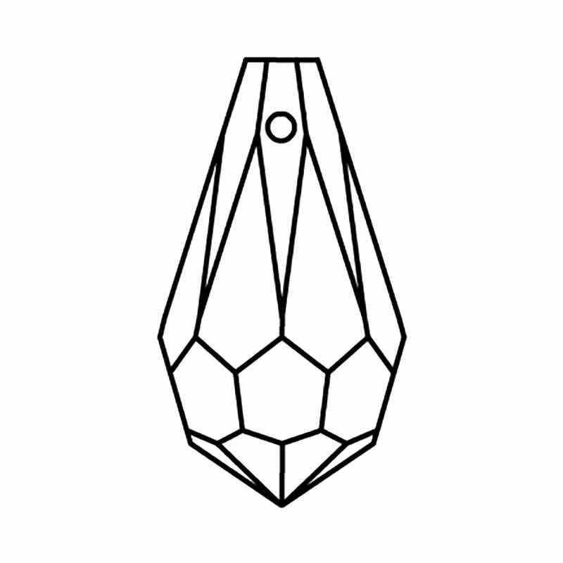6.5x13MM Peridot Drop Pendant 984 Preciosa