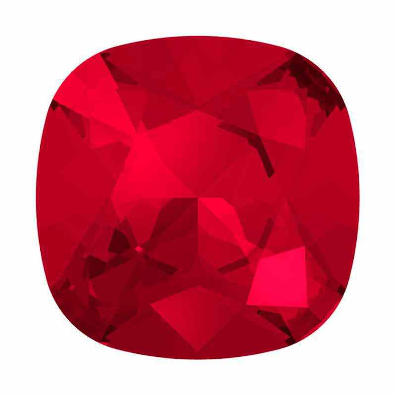 12mm Scarlet F Cushion Square Fancy Stone 4470 Swarovski