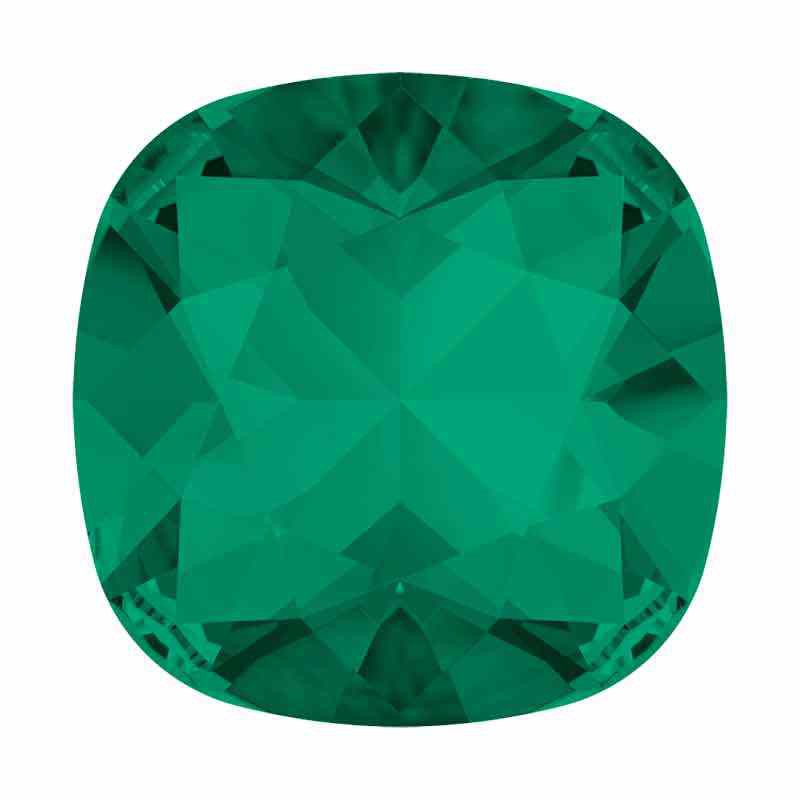 12mm Emerald F Cushion Square Fancy Stone 4470 Swarovski