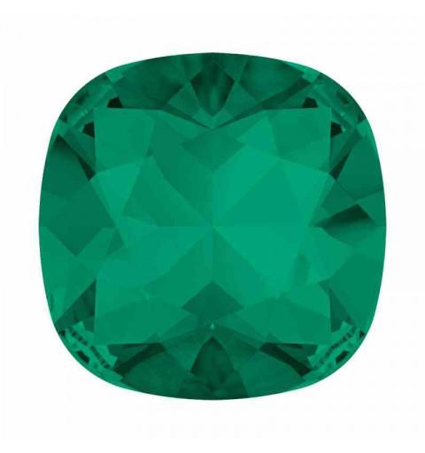 12mm Emerald F Cushion Square Fancy Stone 4470 Swarovski