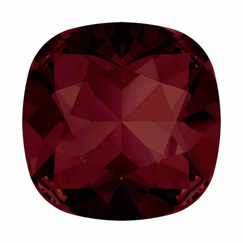 12mm Burgundy F Cushion Square Fancy Stone 4470 Swarovski
