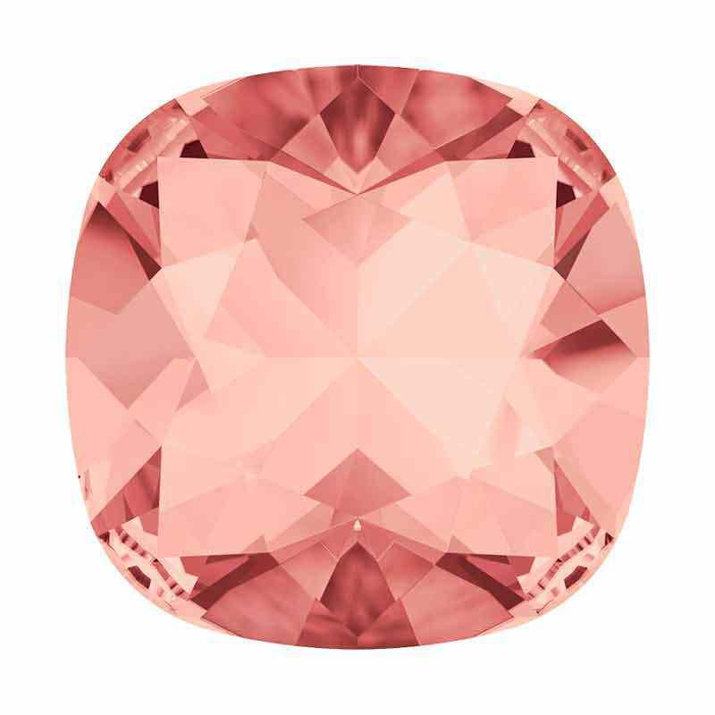 10mm Rose Peach F Cushion Square Fancy Stone 4470 Swarovski