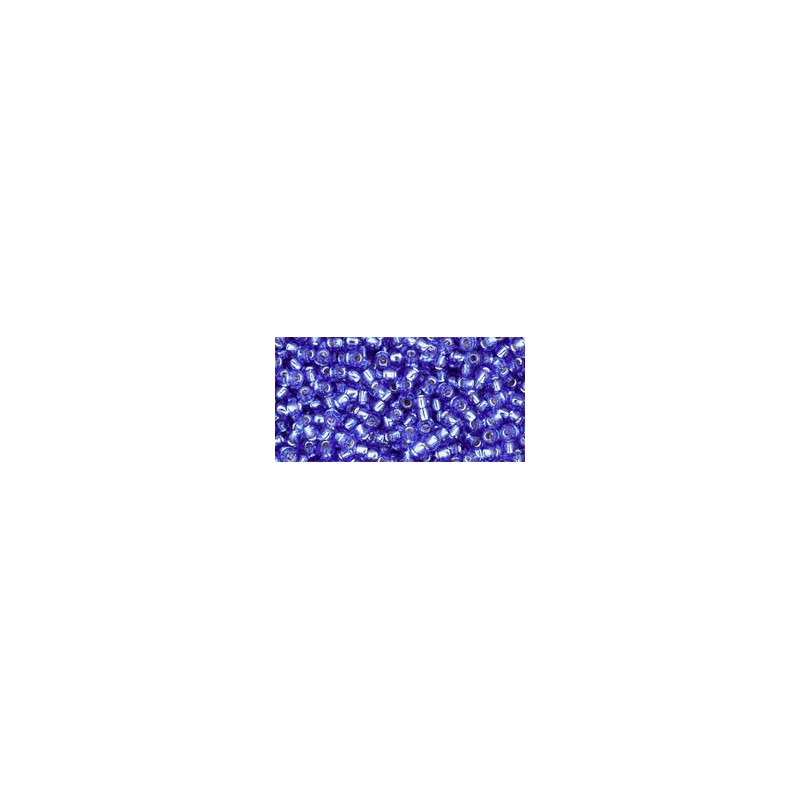 TR-11-35 SILVER-LINED SAPPHIRE SEED BEADS