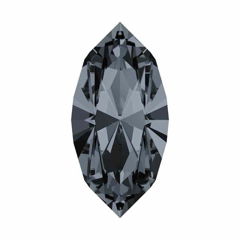10x5mm Silver Night F XILION Navette muotoinen kivi 4228 Swarovski Crystal