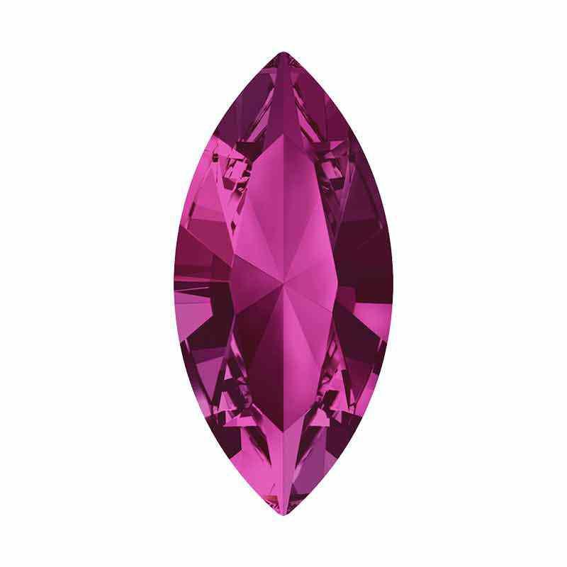15x7mm Fuchsia F XILION Navette Fancy Stone 4228 Swarovski Crystal