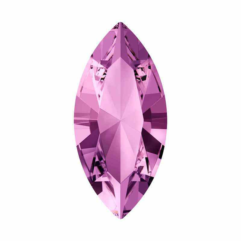 15x7mm Light Amethyst F XILION Navette Кристалл для украшений 4228 Swarovski Crystal