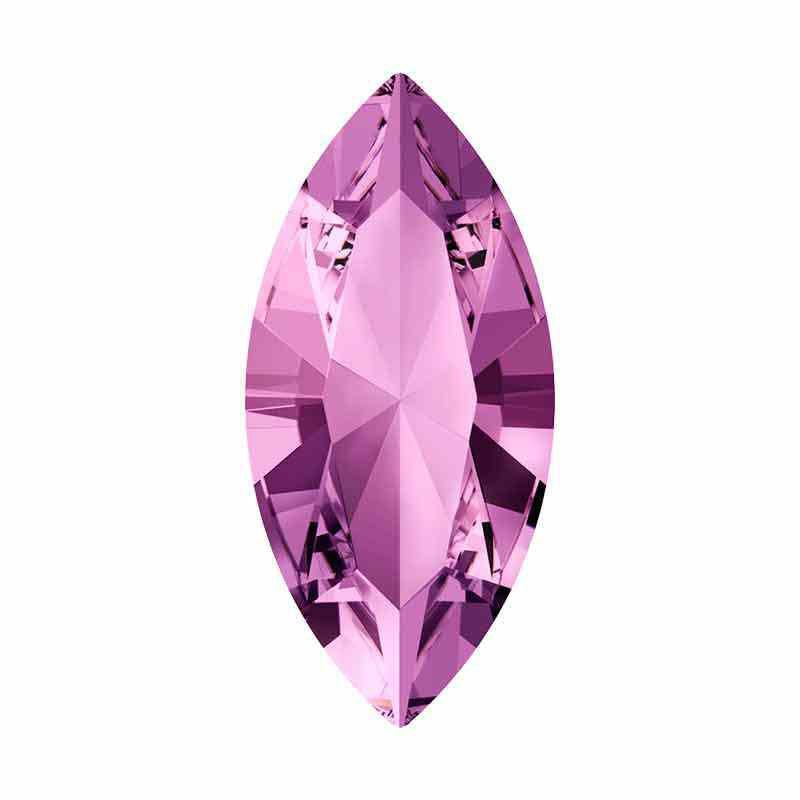 15x7mm Light Amethyst F XILION Navette Ehete Kristall 4228 Swarovski Crystal