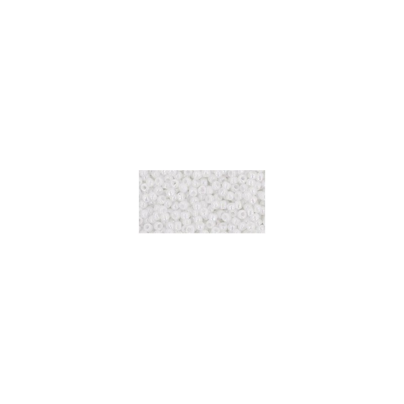 TR-11-401 OPAQUE-RAINBOW WHITE SEED BEADS