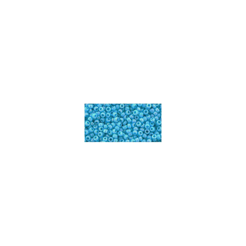 TR-11-403 OPAQUE-RAINBOW BLUE TURQUOISE SEED BEADS