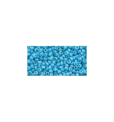 TR-11-403 OPAQUE-RAINBOW BLUE TURQUOISE TOHO HELMED
