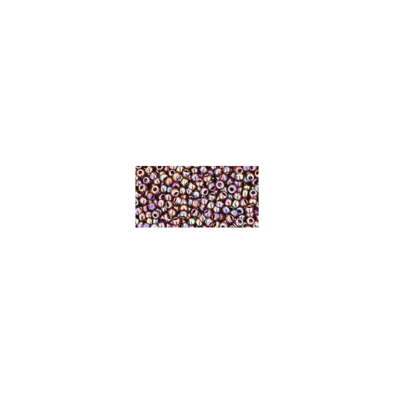 TR-11-406 OPAQUE-RAINBOW OXBLOOD SEED BEADS