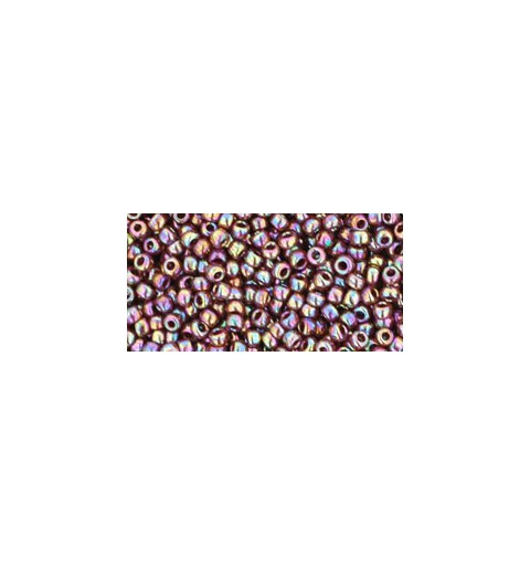 TR-11-406 OPAQUE-RAINBOW OXBLOOD TOHO SEED BEADS
