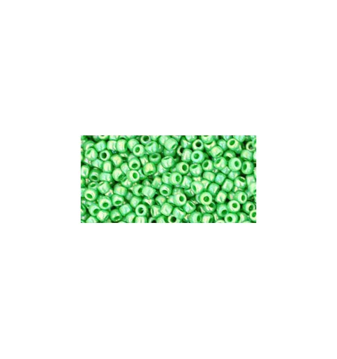 TR-11-407 OPAQUE-RAINBOW MINT GREEN TOHO SEED BEADS