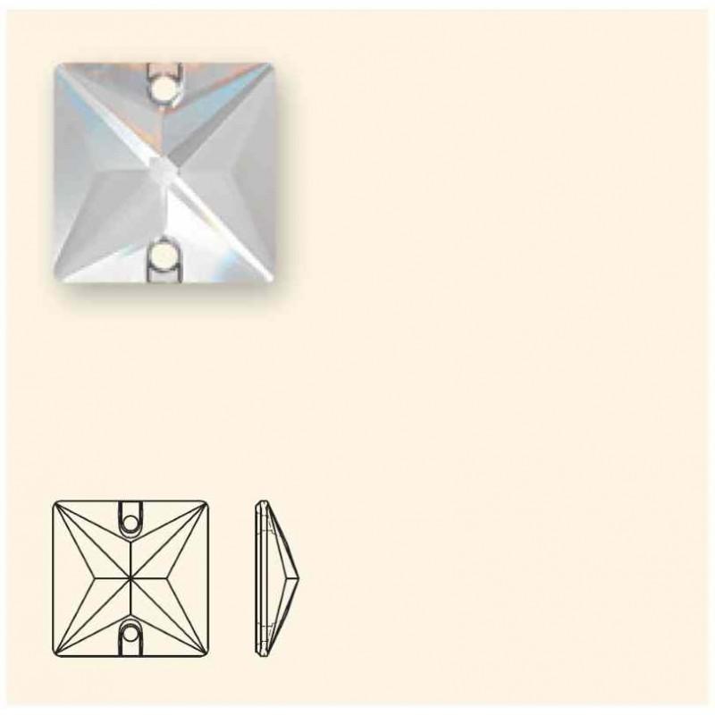 22MM Cobalt F (001) 3240 Квадрат пришивной кристалл SWAROVSKI