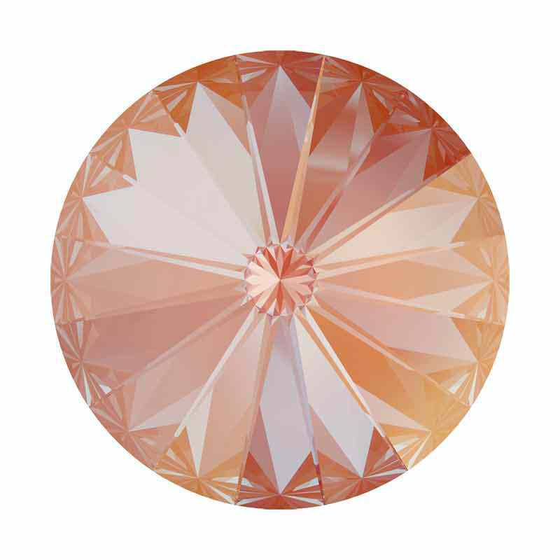 14MM Orange Glow DeLite 1122 Rivoli SWAROVSKI