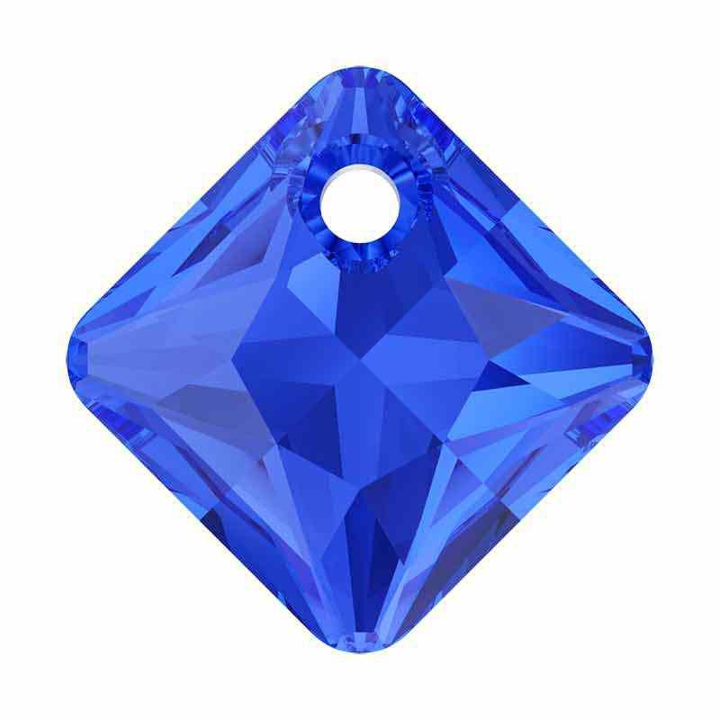 16MM Majestic Blue Princess Cut de Pendentif 6431 SWAROVSKI