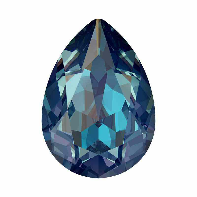 14x10mm Royal Blue DeLite Pear-Shaped Fancy Stone 4320 Swarovski Crystal