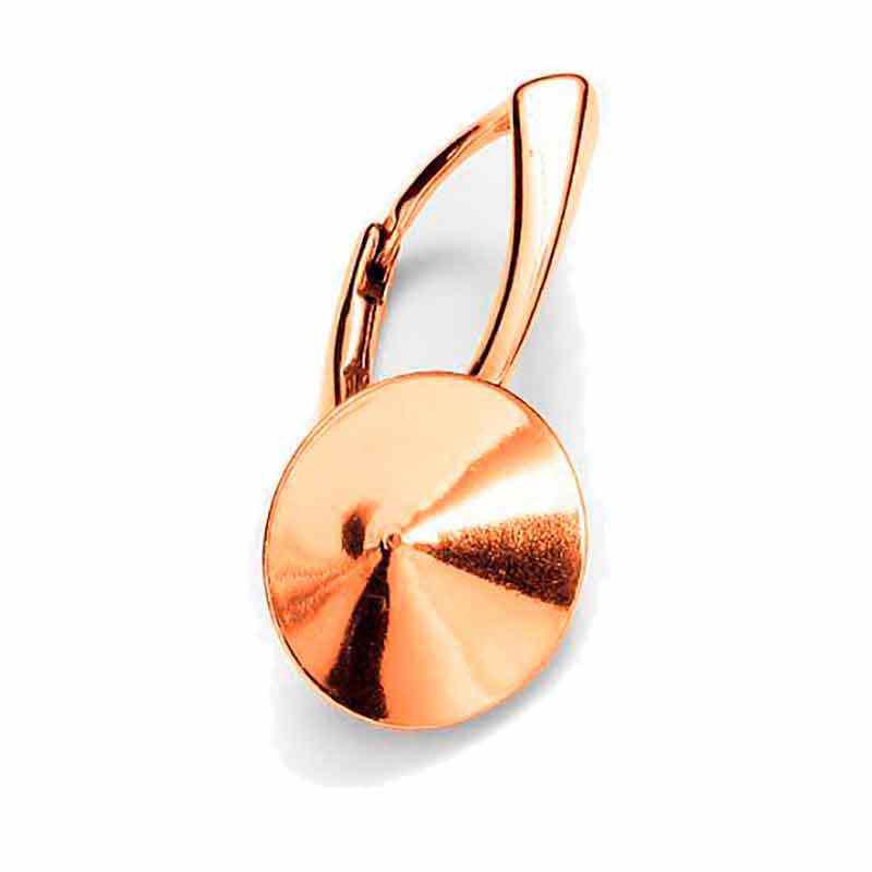 For rivoli 1122 14mm Swarovski Silver Rose Gold Plated Lever back lock