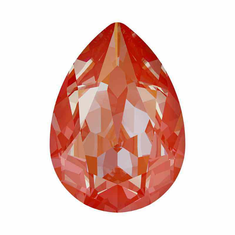 18x13mm Orange Glow DeLite Pear-Shaped Fancy Stone 4320 Swarovski Crystal