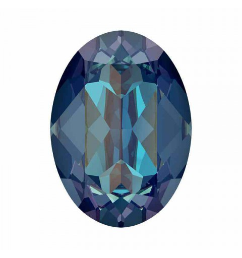 14x10mm Royal Blue DeLite Ovale Fancy Cristal 4120 de Swarovski