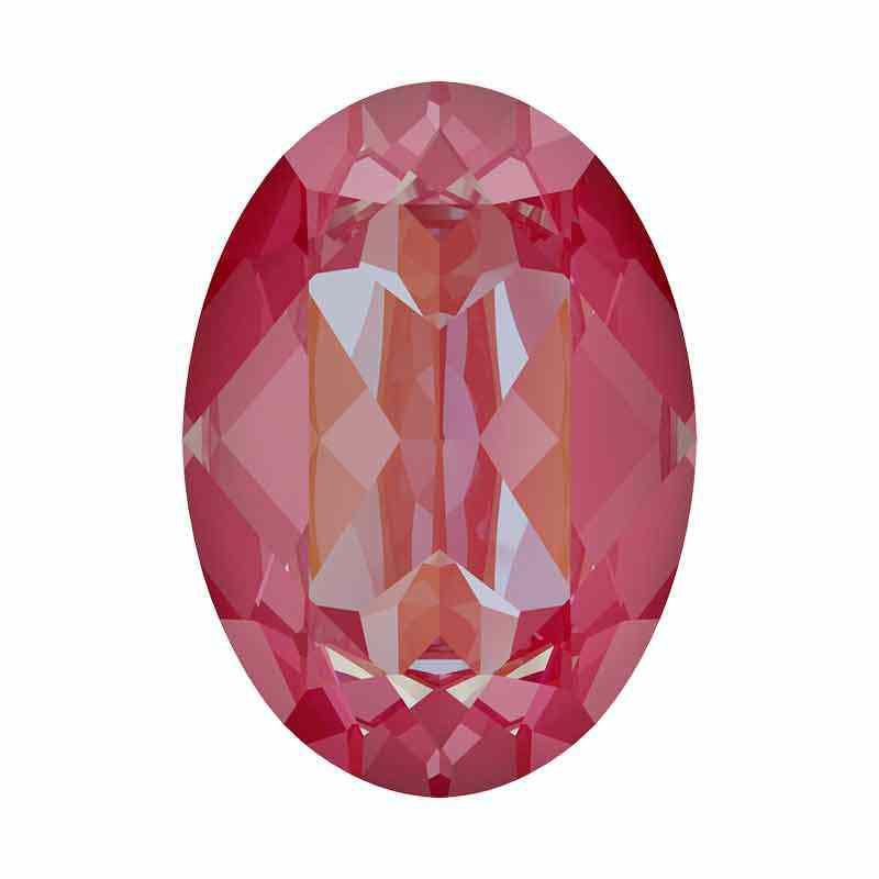 18x13mm Lotus Pink DeLite Oval Fancy Stone 4120 Swarovski