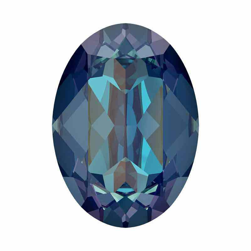 18x13mm Royal Blue DeLite Oval Ehete Kristall 4120 Swarovski
