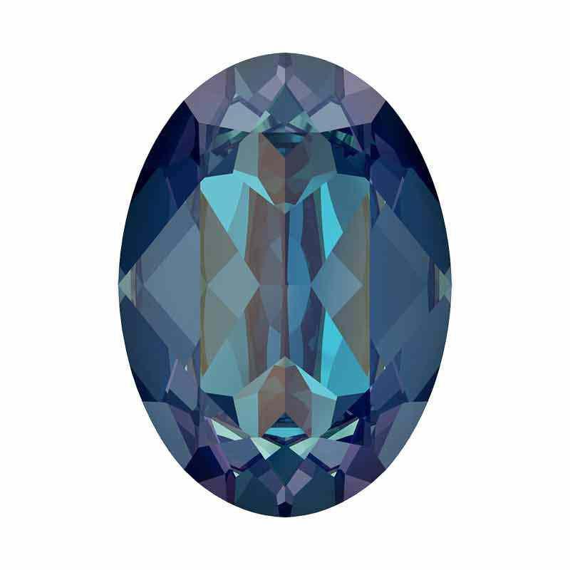 18x13mm Royal Blue DeLite Oval Fancy Stone 4120 Swarovski