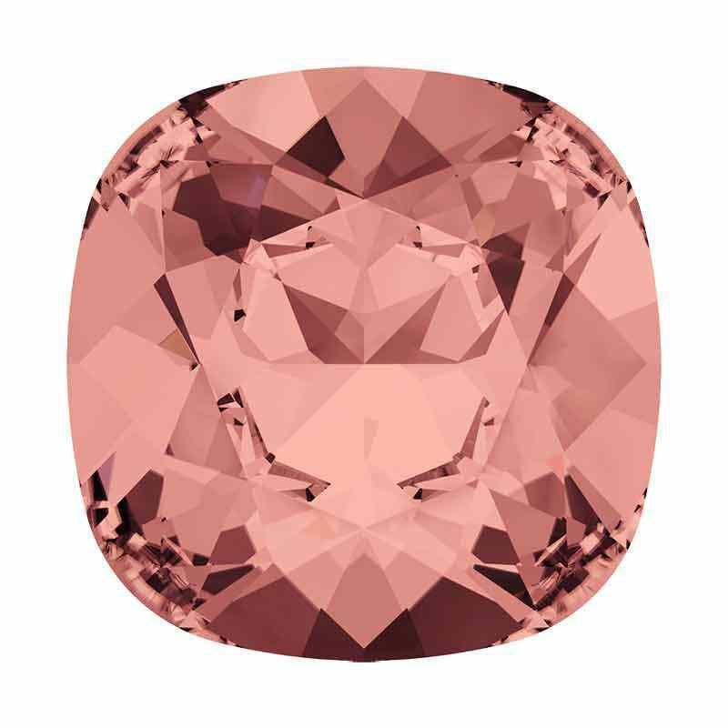 12mm Blush Rose F Padjakujuline Ruudune Ehte Kristall 4470 Swarovski
