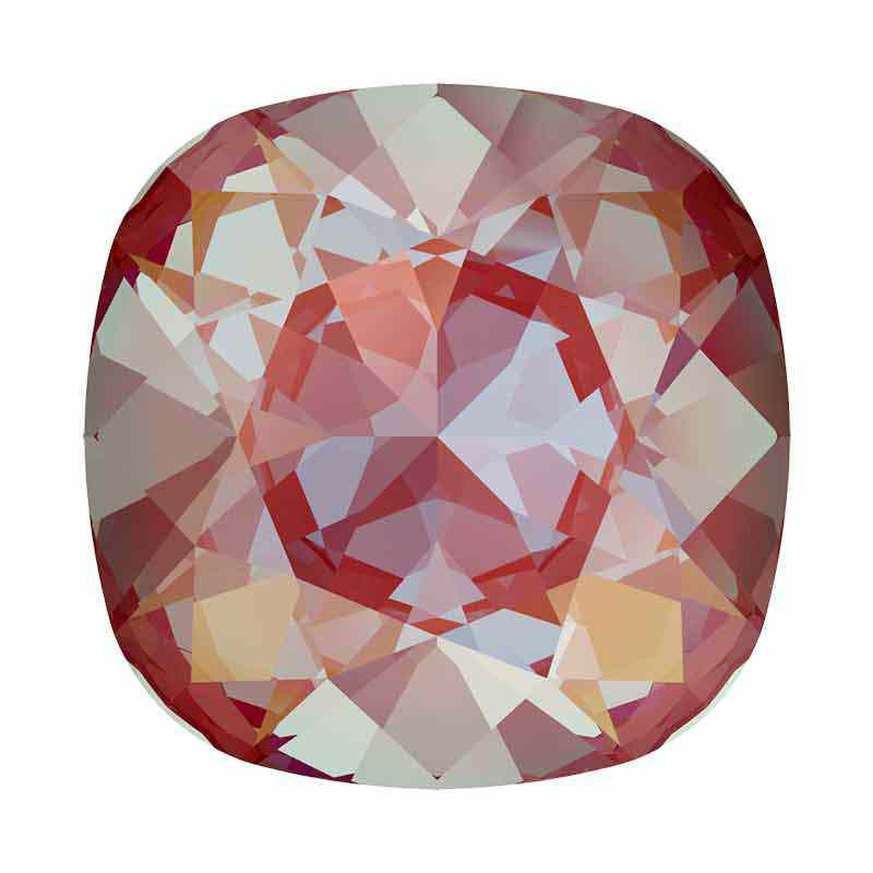 12mm Royal Red DeLite Cushion Square Fancy Stone 4470 Swarovski
