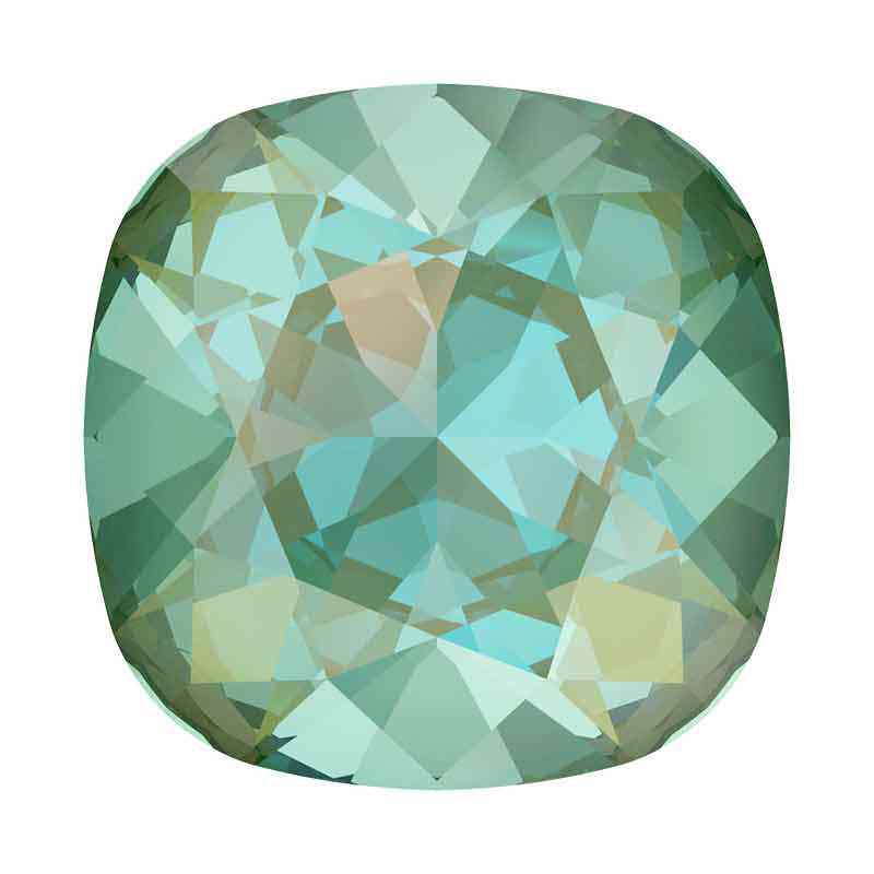 12mm Silky Sage DeLite Cushion Square Fancy Stone 4470 Swarovski