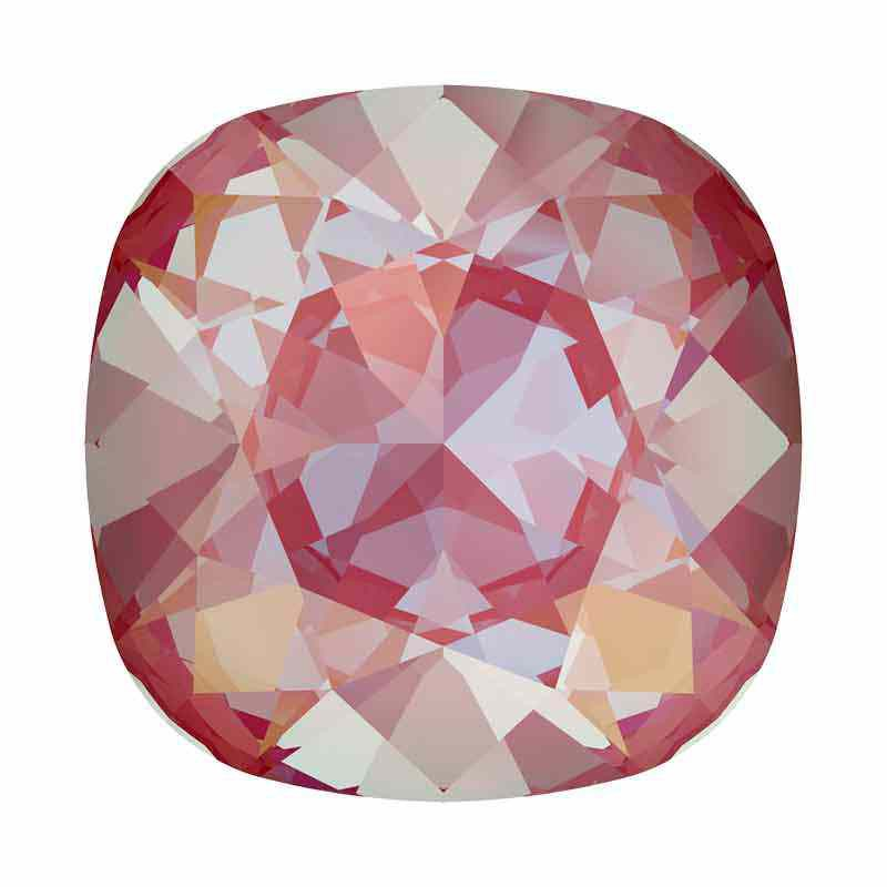 12mm Lotus Pink DeLite Cushion Square Fancy Stone 4470 Swarovski