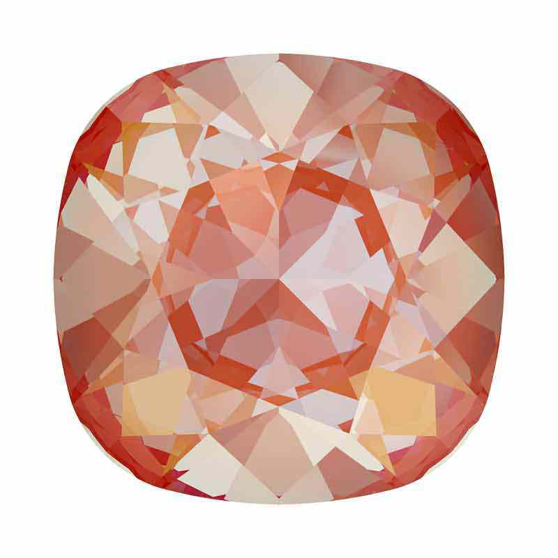 12mm Orange Glow DeLite Cushion Square Fancy Stone 4470 Swarovski