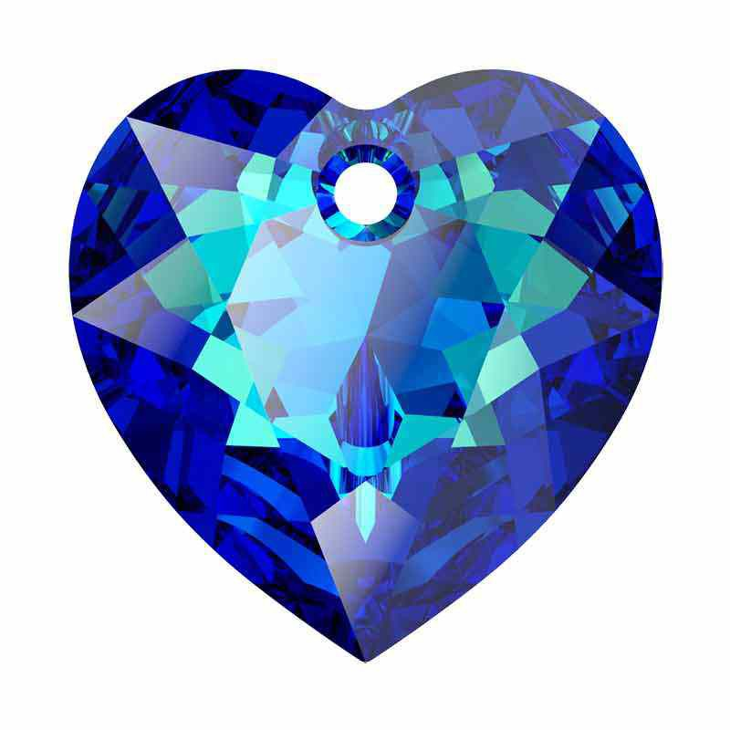 14.5MM Bermuda Blue Heart Cut Pendant 6432 SWAROVSKI