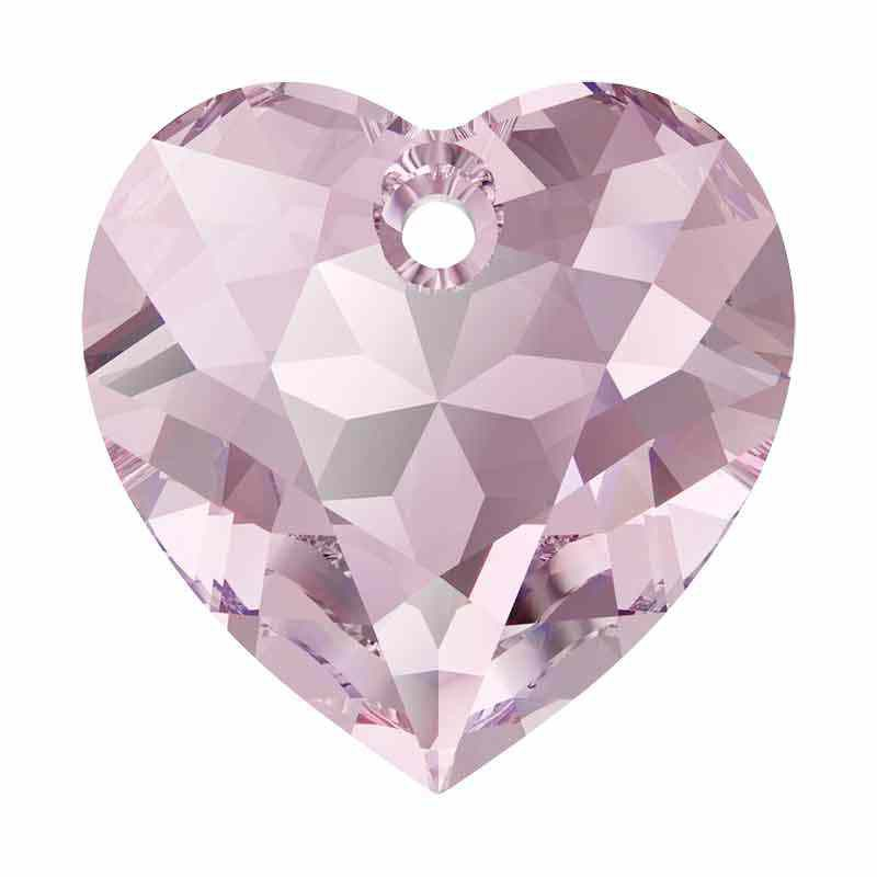 14.5MM Light Amethyst Heart Cut Pendant 6432 SWAROVSKI